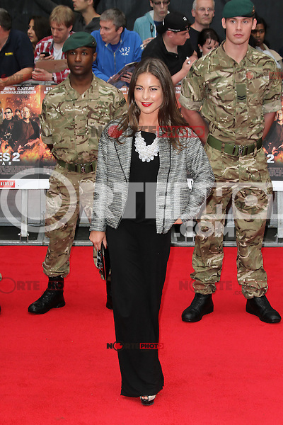 LONDON - AUGUST 13: Louise Thompson attended the UK Film Premiere of 'The Expendables 2', Leicester Square, London, UK. August 13, 2012. (Photo by Richard Goldschmidt) /NortePhoto.com<br /> <br />  **CREDITO*OBLIGATORIO** *No*Venta*A*Terceros*<br /> *No*Sale*So*third* ***No*Se*Permite*Hacer Archivo***No*Sale*So*third*