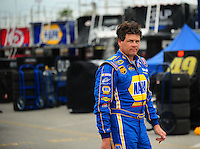 Feb 13, 2008; Daytona Beach, FL, USA; Nascar Sprint Cup Series driver Michael Waltrip during practice for the Daytona 500 at Daytona International Speedway. Mandatory Credit: Mark J. Rebilas-US PRESSWIRE
