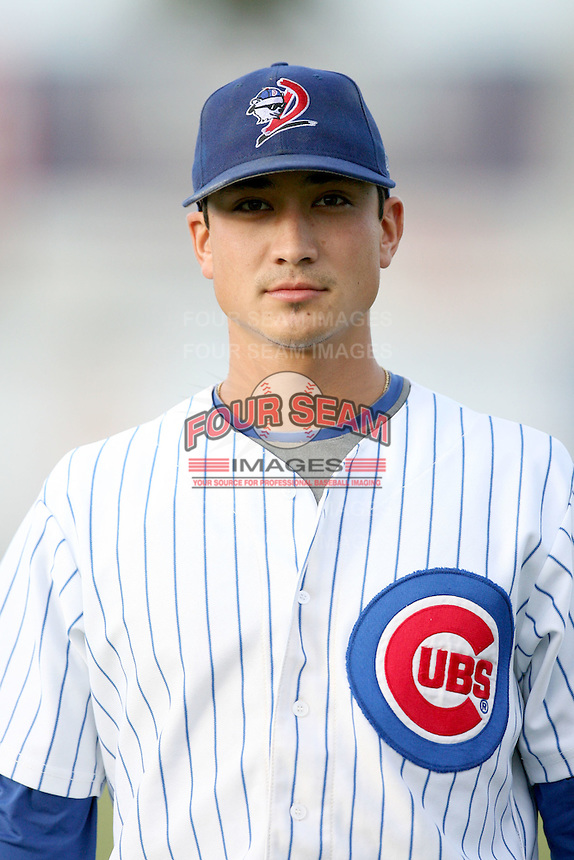 August 15, 2008: Darwin Barney (6) of the Daytona Cubs at Jackie Robinson Ballpark in Daytons, FL. Photo by: Chris Proctor/Four Seam Images