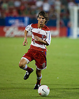 FC Dallas midfielder Pablo Ricchetti (6) advances the ball.  New England Revolution defeated FC Dallas 3-2 to capture the 2007 Lamar Hunt U.S. Open Cup at Pizza Hut Park in Frisco, TX on October 3, 2007.