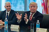 President-elect Donald Trump is seen at a meeting of technology leaders in the Trump Organization conference room at Trump Tower in New York, NY, USA on December 14, 2016. <br /> Credit: Albin Lohr-Jones / Pool via CNP
