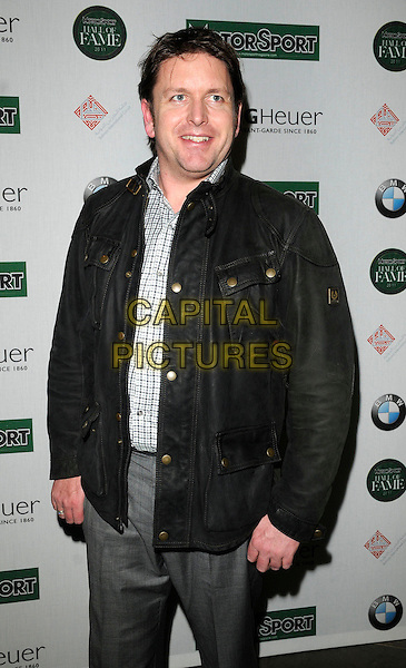 JAMES MARTIN .At the Motor Sport Hall of Fame Induction, The Roundhouse, Chalk Farm, London, England, UK, .15th February 2011..half length  black jacket checked shirt .CAP/CAN.©Can Nguyen/Capital Pictures.
