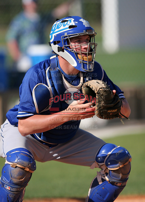 Los Angeles Dodgers minor leaguer Josh Martin during Spring Training at Dodgertown on March 22, 2007 in Vero Beach, Florida.  (Mike Janes/Four Seam Images)