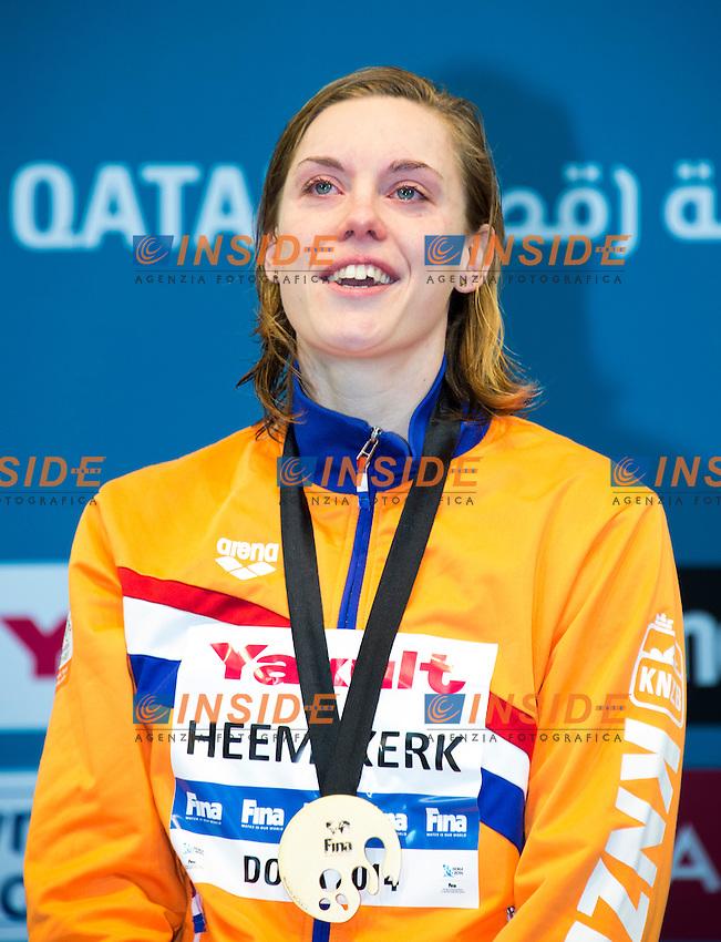 HEEMSKERK Femke NED Gold Medal CR<br /> Women's 100m Freestyle Final<br /> Doha Qatar 05-12-2014 Hamad Aquatic Centre, 12th FINA World Swimming Championships (25m). Nuoto Campionati mondiali di nuoto in vasca corta.<br /> Photo Giorgio Scala/Deepbluemedia/Insidefoto