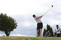 Fionn Hickey (Muskerry) on the 10th tee during the Final round in the Connacht U16 Boys Open 2018 at the Gort Golf Club, Gort, Galway, Ireland on Wednesday 8th August 2018.<br /> Picture: Thos Caffrey / Golffile<br /> <br /> All photo usage must carry mandatory copyright credit (&copy; Golffile | Thos Caffrey)
