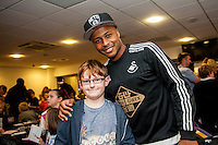 Tuesday  15 December 2015<br /> Pictured: Andre Ayew<br /> Re: Kids SCFC Christmas Party at the Liberty Stadium, Swansea