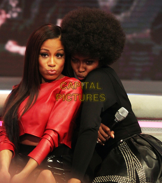 NEW YORK, NY - MARCH 3: Keshia Chante, Naomi Campbell at BET's 106 and Park promoting the second season of The Face in New York City on March 3, 2014 . <br /> CAP/MPI/RW<br /> &copy;RW/ MediaPunch/Capital Pictures