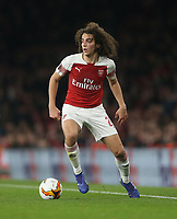 Arsenal's Matteo Guendouzi<br /> <br /> Photographer Rob Newell/CameraSport<br /> <br /> UEFA Europa League Round of 32 Second Leg - Arsenal v BATE Borisov - Thursday 21st February 2019 - The Emirates - London<br />  <br /> World Copyright © 2018 CameraSport. All rights reserved. 43 Linden Ave. Countesthorpe. Leicester. England. LE8 5PG - Tel: +44 (0) 116 277 4147 - admin@camerasport.com - www.camerasport.com