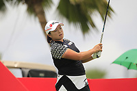 Ha Na Jang (KOR) in action on the 12th during Round 1 of the HSBC Womens Champions 2018 at Sentosa Golf Club on the Thursday 1st March 2018.<br /> Picture:  Thos Caffrey / www.golffile.ie<br /> <br /> All photo usage must carry mandatory copyright credit (&copy; Golffile | Thos Caffrey)