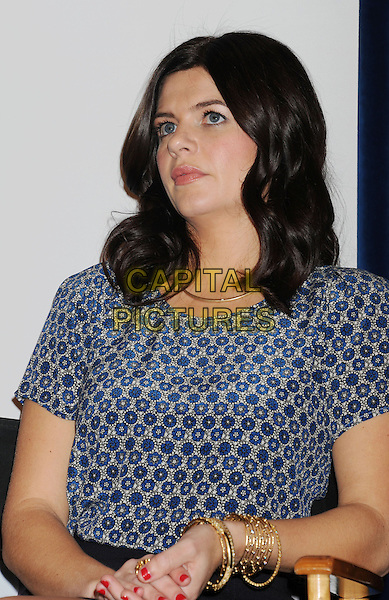 Casey Wilson.The People's Choice Awards 2013 Nomination Announcements at The Paley Center for Media in Beverly Hills, California, USA. .November 15th, 2012.half length  blue print top .CAP/ROT/TM.©Tony Michaels/Roth Stock/Capital Pictures