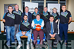 Members of the Garvey Warriors Management and Committee attending the launch of Garvey's Tralee Warriors in the Brandon Hotel on Monday.<br />  Seated l-r, John Dowling, Terry O&rsquo;Brien and Jim Garvey (Sponsor).<br /> Back l-r, Kevin O&rsquo;Donoghue, Noel O&rsquo;Connor, Alan Cantwell, Pa Carey, Jimmy Diggins, Geraldine Collins and Gerard O&rsquo;Sullivan.
