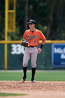 Baltimore Orioles Chris Clare (21) during a Minor League Spring Training game against the Boston Red Sox on March 20, 2018 at Buck O'Neil Complex in Sarasota, Florida.  (Mike Janes/Four Seam Images)