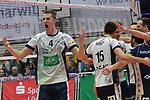 27.01.2018,  Lueneburg GER, VBL, SVG Lueneburg vs TSV Herrsching, im Bild die Lueneburger Mannschaft jubelt/ Foto © nordphoto / Witke