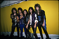 Dio photocall at Donnington Race Track in Leicestershire, England. Aug.22,1987 <br /> CAP/MPI/GA<br /> &copy;GA/MPI/Capital Pictures