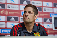 Robert Moreno during a press conference at Ciudad del Futbol in Las Rozas, Spain. September 03, 2019. (ALTERPHOTOS/A. Perez Meca)