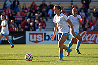 Portland, OR - Sunday March 11, 2018: Sarah Gorden during a National Women's Soccer League (NWSL) pre season match between the Portland Thorns FC and the Chicago Red Stars at Merlo Field.
