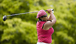 SINGAPORE - MARCH 05:  Christina Kim of the USA plays her tee shot on the par four 6th hole during the first round of HSBC Women's Champions at the Tanah Merah Country Club on March 5, 2009 in Singapore. Photo by Victor Fraile / The Power of Sport Images