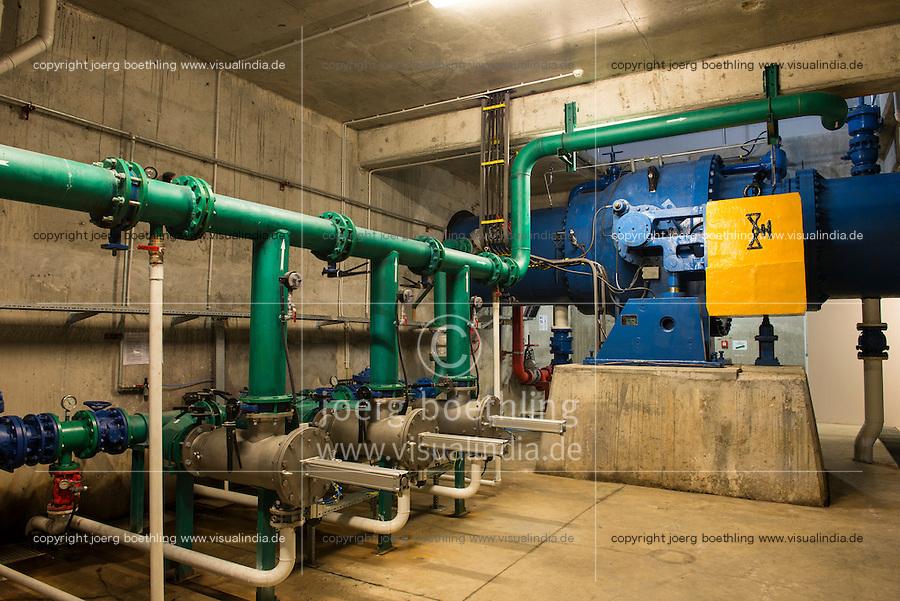 TURKEY, Mengen, Köprübaşı HEPP, hydro power station of Yueksel Holding / TUERKEI, Mengen, Köprübaşı HEPP, Wasserkraftwerk der Yueksel Holdung, Turbinenhaus