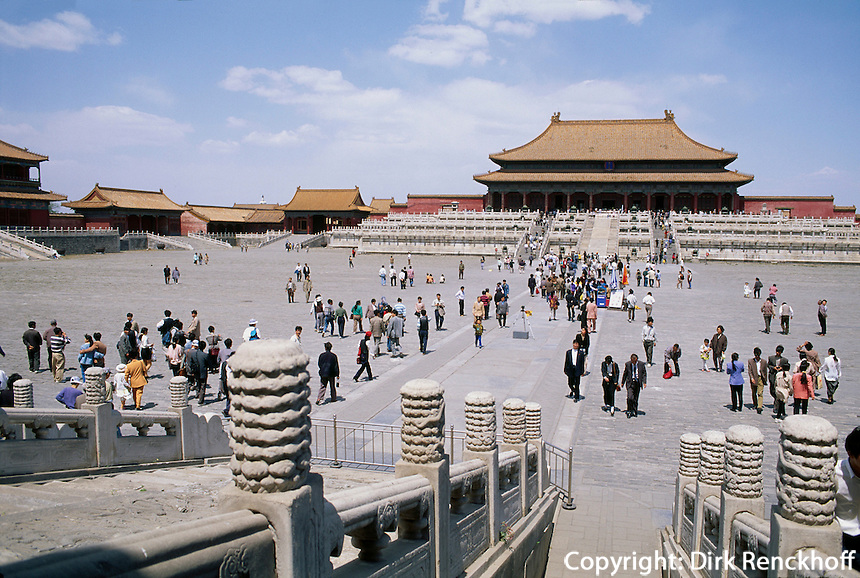 Halle der höchsten Harmonie, Kaiserpalast (Gugong, Verbotene Stadt), Peking,  China, Unesco-Weltkulturerbe