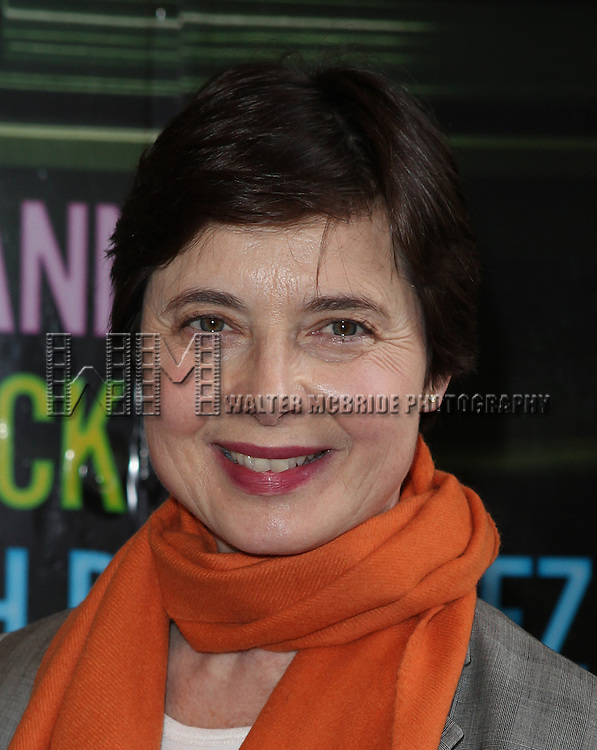 Isabella Rossellini.attending the Broadway Opening Night Performance  for 'The Mother F**ker with the Hat'  in New York City.