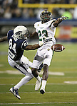 Colorado State's Bernard Blake (23) breaks up a play against Nevada receiver Jerico Richarson (84) during the first half of an NCAA college football game in Reno, Nev., on Saturday, Oct. 11, 2014. Colorado State won 31-24. (AP Photo/Cathleen Allison)