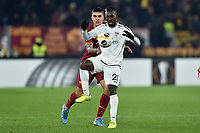 Gianluca Mancini AS Roma, Anderson Niangbo Wolfsberger <br /> Roma 12-12-2019 Stadio Olimpico <br /> Football Europa League 2019/2020 Group J <br /> AS Roma -  Wolfsberger AC <br /> Photo Antonietta Baldassarre / Insidefoto