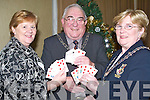 CARDS: Pat Fitzgibbon (President of Tralee Bridge Congress), Michael Bourke (President of South Munster Bridge Association) and Phil Murphy (President Contract Bridge Association of Ireland) launching the bridge congress on Friday night 28th December at the Manor West Hotel, Tralee.   Copyright Kerry's Eye 2008