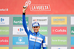 Enric Mas Nicolau (ESP) Quick-Step Floors wins the stage and extends his lead in the young riders competition at the end of Stage 20 of the La Vuelta 2018, running 97.3km from Andorra Escaldes-Engordany to Coll de la Gallina, Spain. 15th September 2018.                   <br /> Picture: Unipublic/Photogomezsport | Cyclefile<br /> <br /> <br /> All photos usage must carry mandatory copyright credit (© Cyclefile | Unipublic/Photogomezsport)