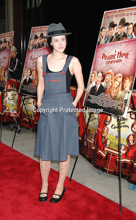 """Jena Malone..at The New York Premiere of """"A Prairie Home Companion""""..on June 4, 2006 at The DGA Theatre. ..Robin Platzer, Twin Images"""