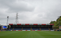 General view of the away end at Wycombe Wanderers Stadium, Adams Park, High Wycombe, Bucks, England on 12 July 2015. Photo by Andy Rowland.