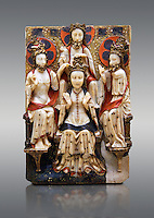 Gothic marble relief sculpture of the Coronation of the Virgin Mary made in London or York, 1420-1460.  National Museum of Catalan Art, Barcelona, Spain, inv no: MNAC  64124.