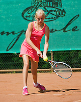 August 4, 2014, Netherlands, Dordrecht, TC Dash 35, Tennis, National Junior Championships, NJK,  Flore Hullegie   Lucia Hodanic<br /> Photo: Tennisimages/Henk Koster
