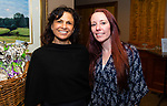WATERBURY,  CT-050719JS19- Monica Roberto, Director Fund Development at Waterbury Youth Services and intern Crissy Long, at the Waterbury Youth Services Grill & Chill event held at the Country Club of Waterbury. Waterbury Youth Services are celebrating 43 years of helping area youth. <br /> Jim Shannon Republican American