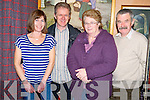 Annemarie Callan, Conrad Callan, with Margaret and Ray O'Riordan at the Kilgobnet National School quiz in Kate Kearneys Cottage, Beaufort on Friday night.