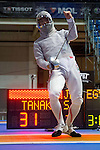 Shun Tanaka (JPN),<br /> AUGUST 10, 2013 - Fencing :<br /> World Fencing Championships Budapest 2013, Men's Team Sabre Round of 32 at Syma Hall in Budapest, Hungary. (Photo by Enrico Calderoni/AFLO SPORT) [0391]