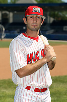 June 30th, 2007:  Dan Descalso of the Batavia Muckdogs, Short-Season Class-A affiliate of the St. Louis Cardinals at Dwyer Stadium in Batavia, NY.  Photo by:  Mike Janes/Four Seam Images