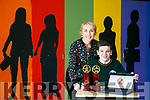 "Dylan Mangan from Killorglin Community College secured the ""Most Creative Use of  Social Media"" Award at the Student Enterprise awards with his web site Grandparents Memories.com last week. Pictured with Business Studies Teacher Sive Fitzgerald"