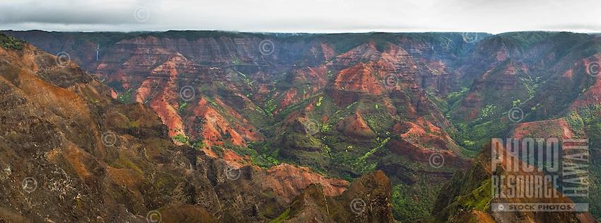 Waimea Canyon, known as the Grand Canyon of the Pacific, Kaua'i.