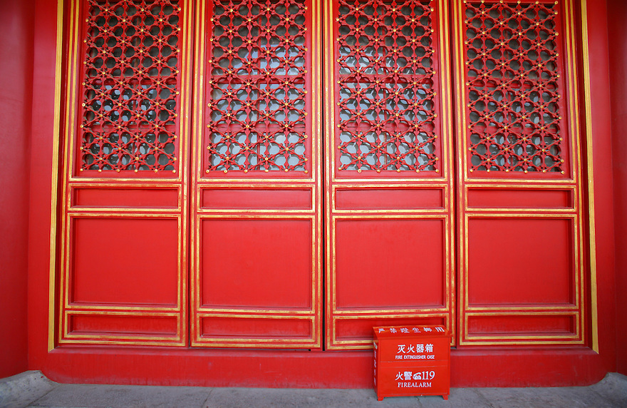 Red doors at Forbidden City Beijing China