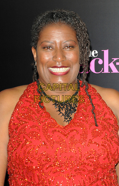 "CARLEASE BURKE .arriving at the premiere of CBS Films' ""The Back-up Plan"" at the Regency Village Theatre in Westwood, California, USA, April 21st 2010..arrivals portrait headshot  red halterneck black necklace smiling  .CAP/ROT.©Lee Roth/Capital Pictures"