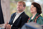 U.S. Sen. Dean Heller, R-Nev., and U.s. Sen. Dianne Feinstein, D-Ca., listen to speakers at the 2012 Lake Tahoe Summit at Edgewood Tahoe in Stateline, Nev., on Monday, Aug. 13, 2012. The event, in its 16th year, brings political leaders from Nevada and California together to address issues related to preserving Lake Tahoe..Photo by Cathleen Allison