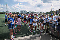 Allston, MA - Saturday August 19, 2017: Fans wait to greet the Boston Breakers and Orando Pride during a regular season National Women's Soccer League (NWSL) match between the Boston Breakers and the Orlando Pride at Jordan Field.