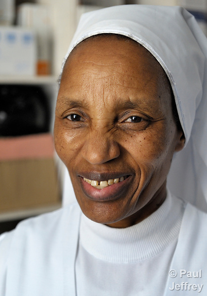 Sister Priscilla Isidore, a Tanzanian member of the Sisters of Charity of the Immaculate Conception of Ivrea, serves as a nurse at the October 7 Hospital in Benghazi, Libya. Along with other Catholic sisters, she has remained in Libya despite the civil war that broke out in February, 2011.