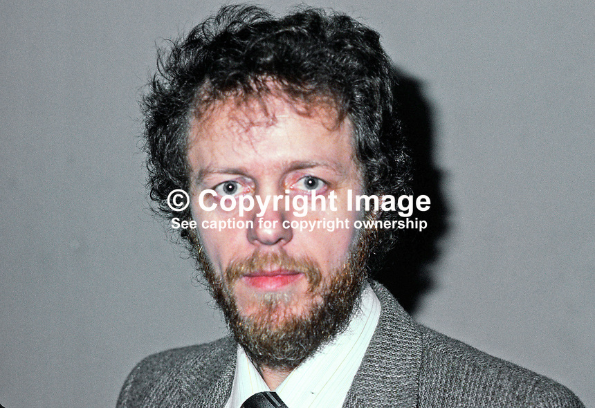 Sean Farren, chairman, SDLP, Social Democratic &amp; Labour Party, N Ireland, UK, 198011000352b.<br /> <br /> Copyright Image from Victor Patterson,<br /> 54 Dorchester Park, <br /> Belfast, UK, BT9 6RJ<br /> <br /> t1: +44 28 9066 1296 (from Rep of Ireland 048 9066 1296)<br /> t2: +44 28 9002 2446 (from Rep of Ireland 048 9002 2446)<br /> <br /> m: +44 7802 353836<br /> <br /> e: victorpatterson@me.com<br /> www.victorpatterson.com<br /> <br /> Please see my Terms and Conditions of Use at www.victorpatterson.com. It is IMPORTANT that you familiarise yourself with them.<br /> <br /> Images used on the Internet must be visibly watermarked i.e. &copy; Victor Patterson<br /> within the body of the image and copyright metadata must not be deleted. Images <br /> used on the Internet have a size restriction of 4kbs and will be chargeable at current<br />  NUJ rates unless agreed otherwise.<br /> <br /> This image is only available for the use of the download recipient i.e. television station, newspaper, magazine, book publisher, etc, and must not be passed on to any third <br /> party. It is also downloaded on condition that each and every usage is notified within 7 days to victorpatterson@me.com<br /> <br /> The right of Victor Patterson to be identified as the author is asserted in accordance with The Copyright Designs And Patents Act (1988). All moral rights are asserted.