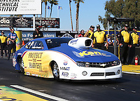 Feb. 22, 2013; Chandler, AZ, USA; NHRA pro stock driver Rodger Brogdon during qualifying for the Arizona Nationals at Firebird International Raceway. Mandatory Credit: Mark J. Rebilas-
