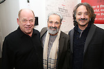 Peter Ratray, Craig Lucas and Frankie Krainz during The DGF's 14th Biannual Madge Evans & Sidney Kingsley Awards at the Dramatists Guild Fund headquarters on April 4, 2016 in New York City.
