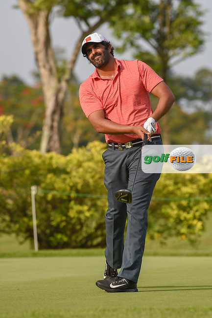 Mohamed ALNOAIMI (BHR) watches his tee shot on 3 during Rd 1 of the Asia-Pacific Amateur Championship, Sentosa Golf Club, Singapore. 10/4/2018.<br /> Picture: Golffile | Ken Murray<br /> <br /> <br /> All photo usage must carry mandatory copyright credit (© Golffile | Ken Murray)
