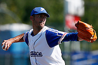 09 September 2012: France starting pitcher Matthieu Brelle-Andrade pitches against Belgium during France 9-8 win in over Belgium, at the 2012 European Championship, in Utrecht, Netherlands.