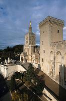 Europe/France/Provence-Alpes-Côte- d'Azur/84/Vaucluse/Avignon: la cathedrale Notre Dame des Doms depuis le Palais des Papes