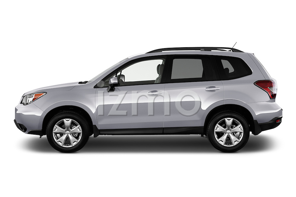 Driver side profile view of a 2014 Subaru Forester 2.5i Premium